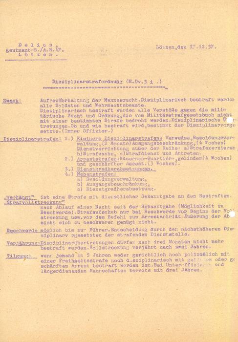 Dokumentacja szkoleniowa II./Art.Regt.47 in Lötzen - luźne dokumenty