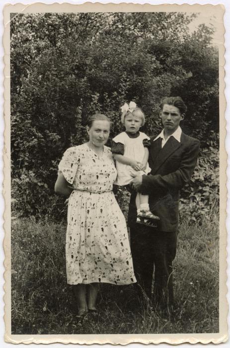 Ludmiła Panasik z rodzicami