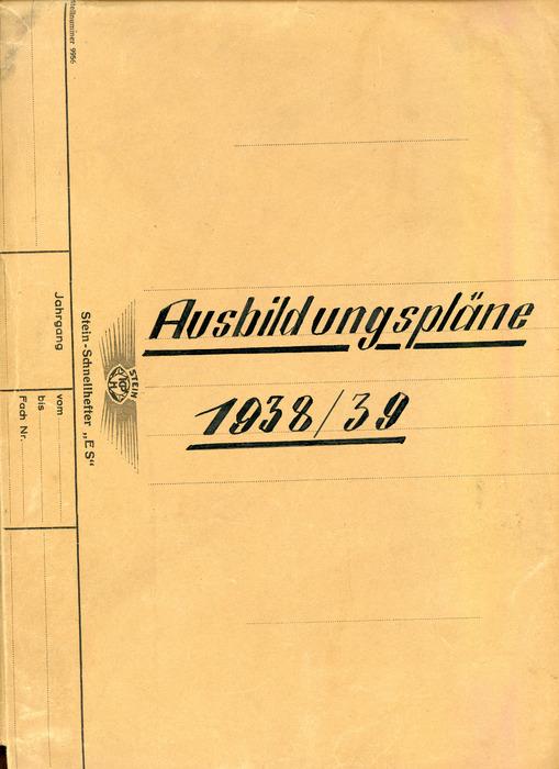 Ausbildungspläne 1938/39