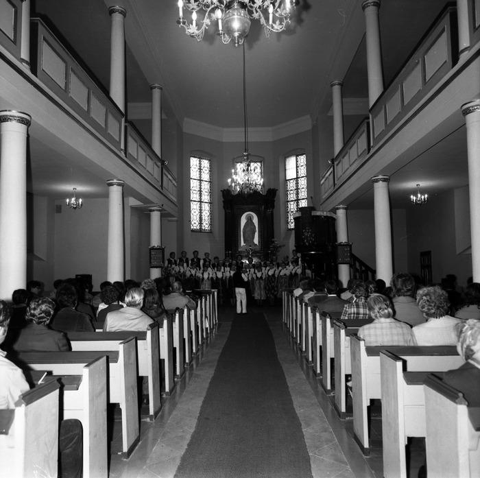 Występ śląskiego chóru w kościele ewangelickcim [6]
