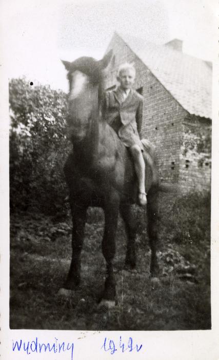 Stefan Lempiecki na koniu