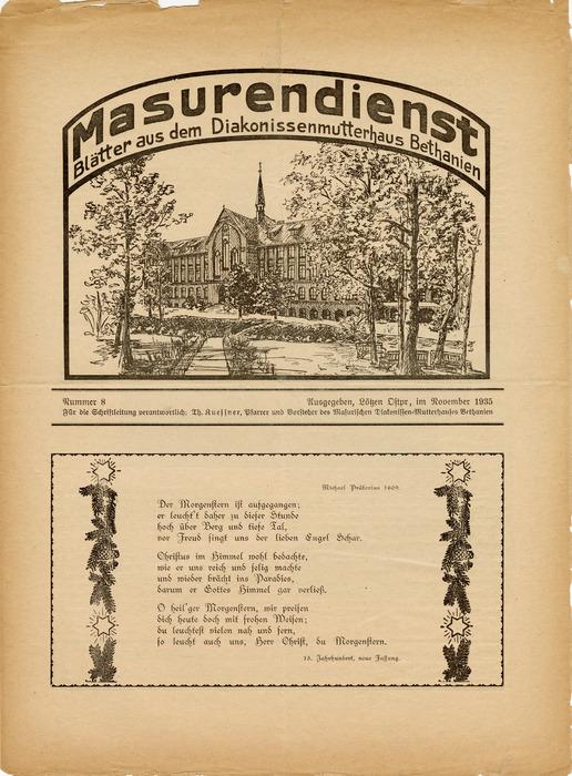 Masurendienst - November 1935