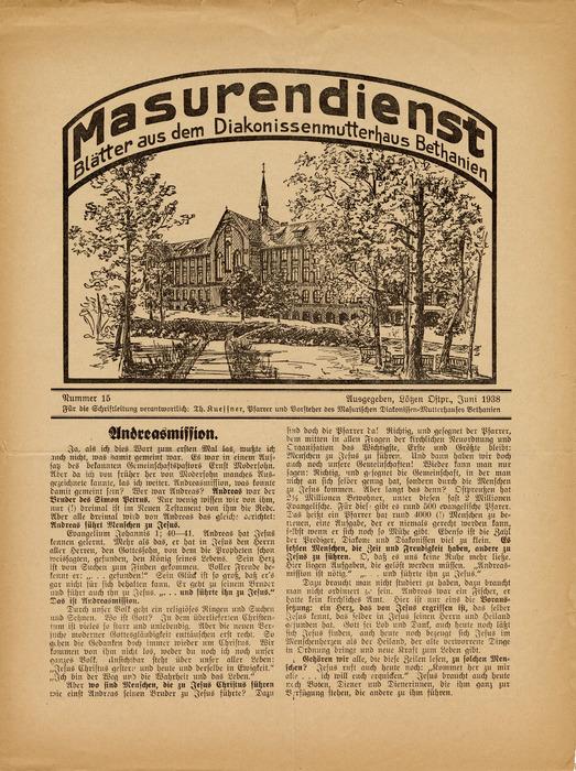 Masurendienst - Juni 1938