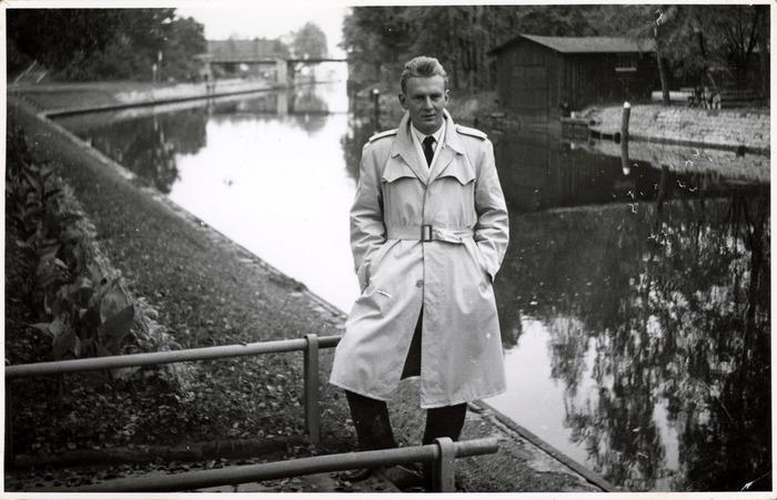 Stefan Lempiecki nad kanałem