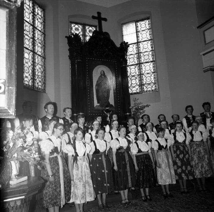 Występ śląskiego chóru w kościele ewangelickcim [3]